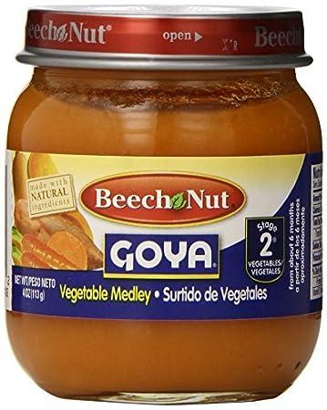 Amazon.com : Etapa 2 Vegetales Medley Baby Food, 4 onzas (paquete de 10) : Baby