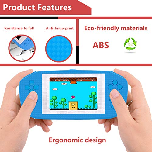 Beico Handheld Games for Kids Adults 3.5'' Large Screen Built in 416 Classic Retro Video Games Seniors Electronic Games Consoles Birthday Present (Blue) by Beico (Image #5)
