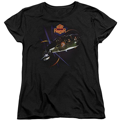 Night Ranger - 7 Wishes - Women's Cap Sleeve T-Shirt - Medium (T-shirt Womens Night Sleeve Cap)