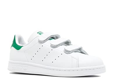 big sale 94b41 34380 adidas Stan Smith CF J, Chaussures de Gymnastique Mixte Enfant, Blanc Cassé FTWR  White