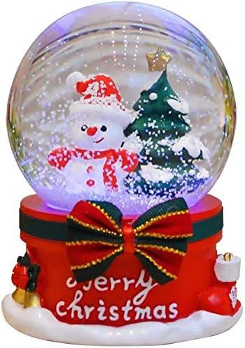 Lzdingli Musical Bola de Nieve, Navidad Caja de Música Snowman y ...