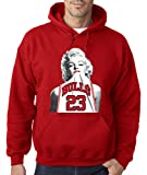 New Way 193 - Hoodie Marilyn Monroe Bulls 23 Jordan Jersey Unisex Pullover Sweatshirt 2XL Red
