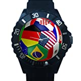 Men's and Boy's Watch USA State's Flag Soccer Ball Football Art Design Pattern Plastic High Quality Watch 100% Plastic Quartz Watch