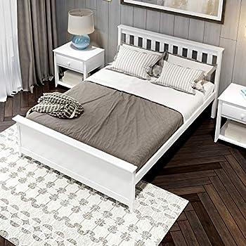 Amazon Com Zinus Wen Deluxe Wood Platform Bed With