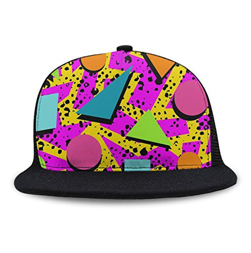 Baseball Hats Cap for Women(Mesh/Washed/Classic),80s Memphis Adjustable Sun Baseball Cap