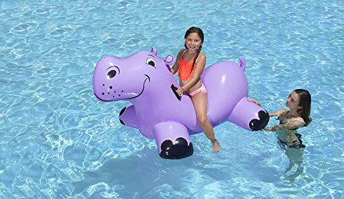 (Poolmaster Swimming Pool Float Rider, Hippo)