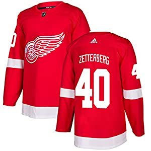 Men's Detroit Red Wings #40 Henrik Zetterberg adidas Red Authentic Jersey