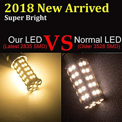 20 Pcs Extremely Super Bright 1156 1141 1003 BA15S 68-SMD LED Replacement Light Bulbs for RV Indoor Lights(20-Pack, Warm White (3000K-3500K Color Temputure)): Automotive