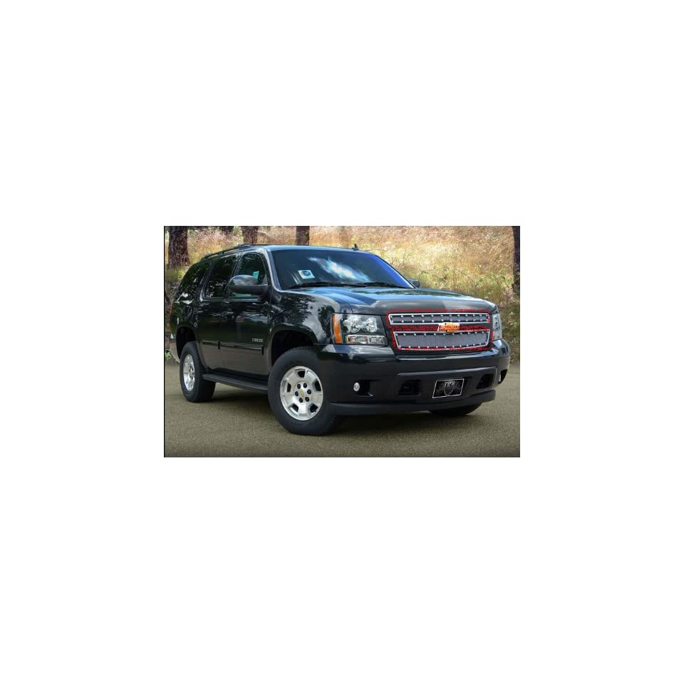 CHEVY AVALANCHE TAHOE SUBURBAN 2007 2012 E POWER UPPER CHROME FINE MESH GRILLE GRILL