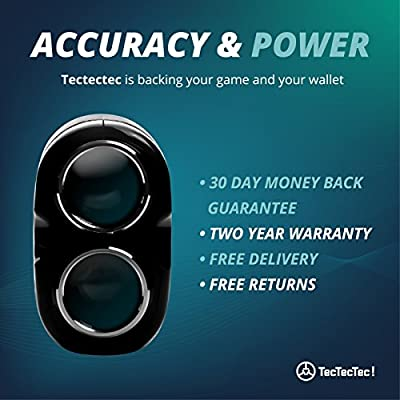 TecTecTec VPRO500 Golf Rangefinder - Laser Range Finder with Pinsensor - Laser Binoculars - Free Battery from TecTecTec