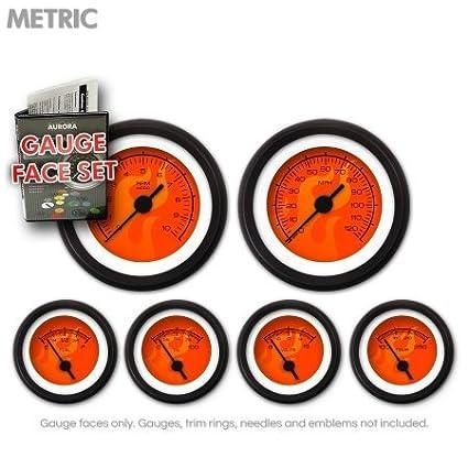 GARFM85 Ghost Flame Red Gauge Face Set Aurora Instruments