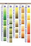 DMC COLORCRD Needlework Threads 12-Page Printed