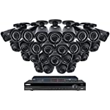 Lorex 32 Channel 4K 4MP Security System NR9326 6TB HDD 28 Camera system with 14 4MP LNB4421B Bullet Cameras 14 4MP LNE4422B Dome Cameras with color night vision - 2KHDIP3228D