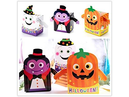 HOUHOUNNPO Caja de golosinas de Halloween, Caja de bocadillos para ...