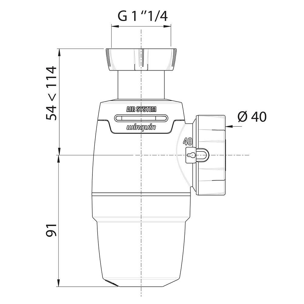 Wirquin - Sifón de fregadero Neo Air de Wirquin diámetro 40 mm ...