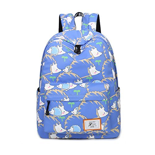ee36ca0ff5db Joymoze Retro Colorful Print Trendy Backpack for women Cute Schoolbag for  Girl Hedgehog