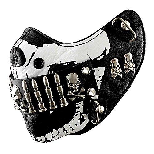 Bullet Mask Mens Punk Rock Biker Custome Hip Hop Motorcycle by punkman2000
