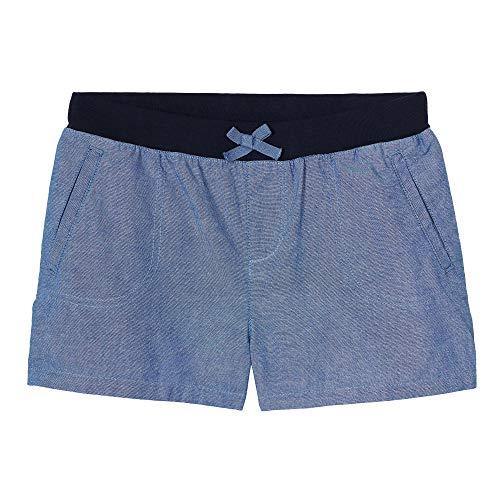 Girls Chambray Shorts (French Toast Girls' Big Knit Waistband Short, Washed Chambray, M)