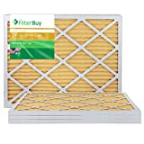 FilterBuy 18x25x1 MERV 11 Pleated AC Furnace Air Filter, (Pack of 4 Filters), 18x25x1 – Gold