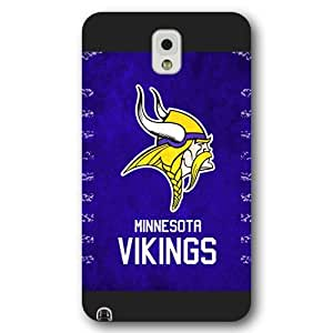 UniqueBox Customized NFL Series Case for Samsung Galaxy Note 3, NFL Team Minnesota Vikings Logo Samsung Galaxy Note 3 Case, Only Fit for Samsung Galaxy Note 3 (Black Frosted Shell)