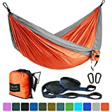 Farland Single & Double Camping Hammock with Tree Straps, Lightweight Portable Parachute Nylon