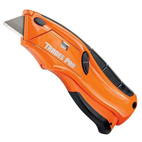 Tradespro 838013 Safety Squeeze Knife Auto Loading Utility Knife