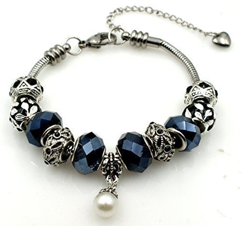 BRCbeads HEMATITE Birthstone Stainless Bracelets