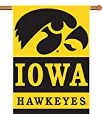 NCAA Iowa Hawkeyes 2-Sided 28-by-40 inch House Banner with  Pole Sleeve For Sale