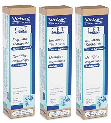 Dog Cet Toothpaste (CET Beef Toothpaste 2.5 oz (3 Pack))