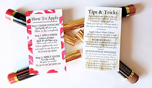 50 LipSense by SeneGence How To Apply/Tips and Tricks Cards Double Sided | Package of 50 Total Cards - Application Card