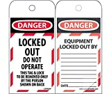 LOTAG34SL150 Polytag National Marker Self Laminating Tags, Lockout, Danger, LOCKED Out Do Not Operate, 6 Inches x 3 Inches, Polytag, Box of 150