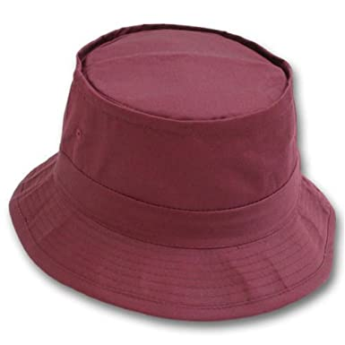 bce794850cae9b Image Unavailable. Image not available for. Color: Bucket Fishing Hat - Maroon  L/XL