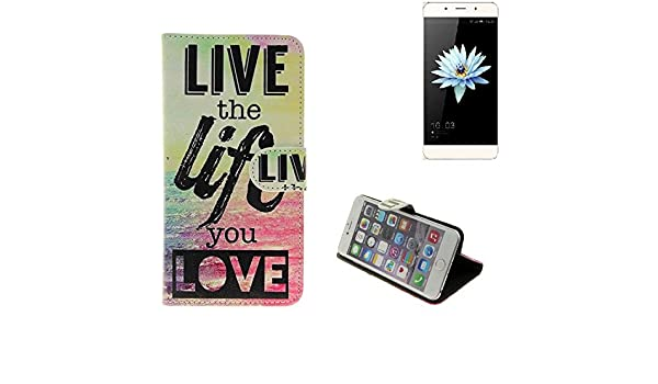 K-S-Trade 360° Funda Smartphone para Hisense C1, Live The Life You ...