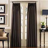 faux silk windows panel - Curtainworks Marquee Faux Silk Pinch Pleat Curtain Panel, 30 by 108