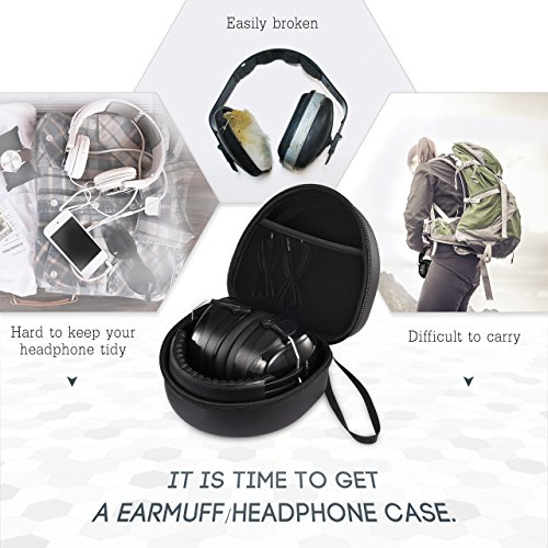 Mpow Earmuff Case for Mpow 035/068/108 Noise Reduction Safety Ear Muffs, Hard Travel Case EVA Hardshell for Mpow 059/H1/H2/H5 Foldable Headphone, Travel Carrying Case with Mesh Pocket for Accessories by Mpow (Image #2)