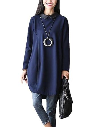 e82299396a386 Vogstyle Women's Spring/Autumn New Long Sleeve Dresses Medium Style ...