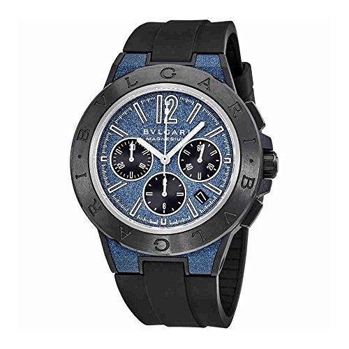- Bvlgari Diagono Chronograph Automatic Blue Dial Mens Watch 102304
