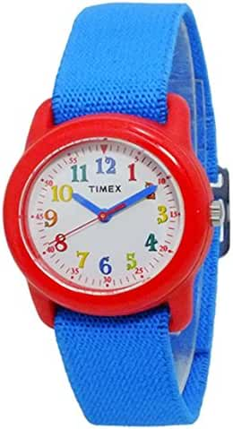 Timex Boy's Kidz TW7B99500 Blue Cloth Analog Quartz Fashion Watch