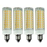 E11 LED Bulb Dimmable, 7W (75W-100W Halogen Bulbs Equivalent), Mini Candelabra Base, AC110V120V 130V, 3000K Warm White for Chandeliers Ceiling Fan Light, Pack of 4