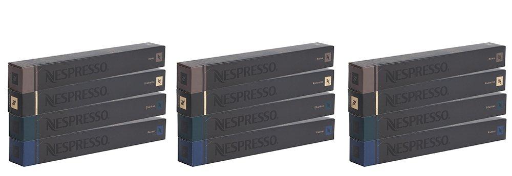 Nespresso EZKhv OriginalLine: Kazaar, Dharkan, Ristretto, Roma, 40 Count (3 Pack)
