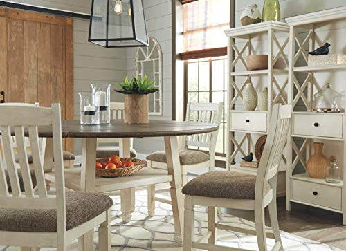Signature Design by Ashley Bolanburg Counter Height Dining Room Drop Leaf Table, Two-tone