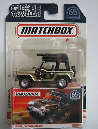 MATCHBOX GLOBE TRAVELERS GOLD/BLACK JEEP WRANGLER 65TH ANNIVERSARY 65th Anniversary Jeep Wrangler
