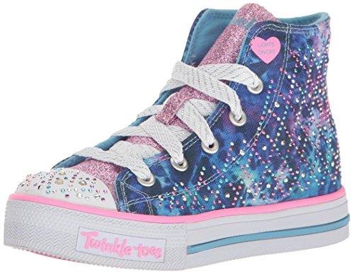 Skechers Kids Girls' Shuffles-Studded Steps Sneaker,Multi Studded,12.5 M US Little Kid