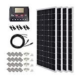 HQST 400 Watt 12 Volt Monocrystalline Solar Panel Kit with...