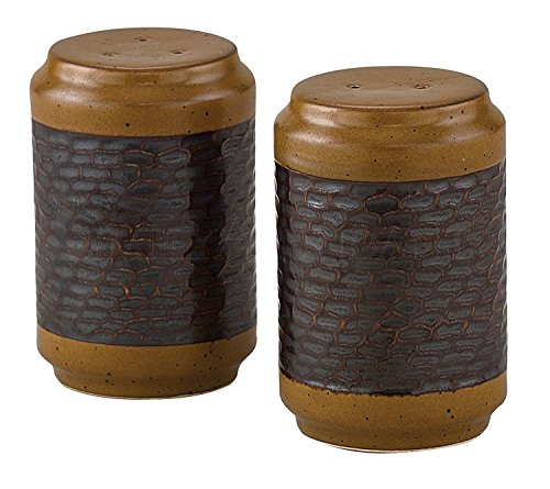 Molasses and Espresso Sawmill Salt and Pepper Set, Stoneware, 3.5 Inches ()