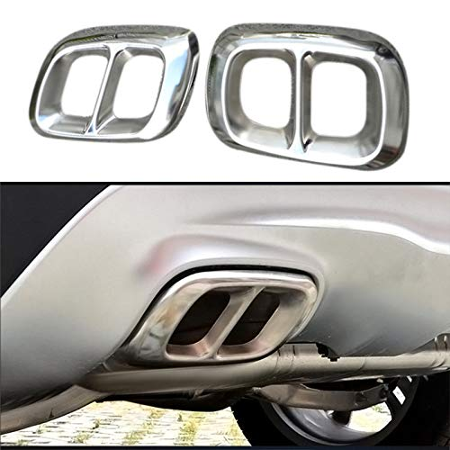 TOOGOO 2Pcs Stainless Steel Chrome for Mercedes GLA Class X156 Car Exhaust Muffler Cover Trim
