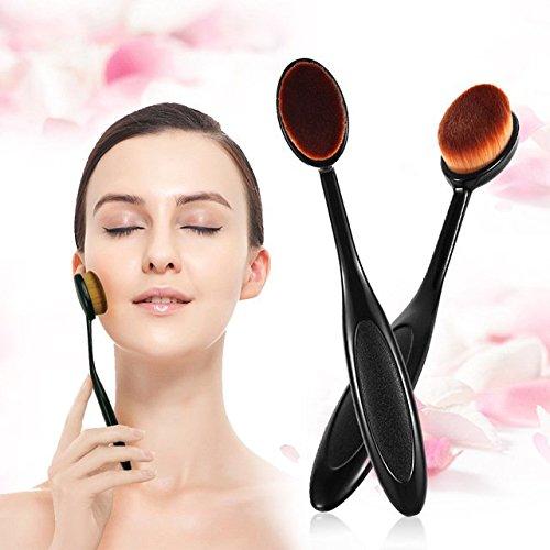 Sindy visage de maquillage pinceau poudre teint Blush Brosse à dents courbe