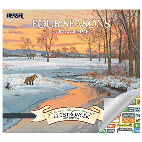 Lang Four Seasons Calendar 2019 Set - Deluxe 2019 Lee Stroncek Seasons Mini Wall Calendar Bundle with Over 100 Calendar Stickers (Four Seasons Gifts, Office Supplies)