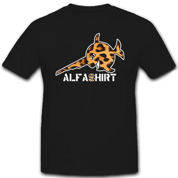 ALFA Camiseta Sierra Pez espada pescado Leo Animal Print Mujer Chica - Camiseta # 12221: Amazon.es: Ropa y accesorios