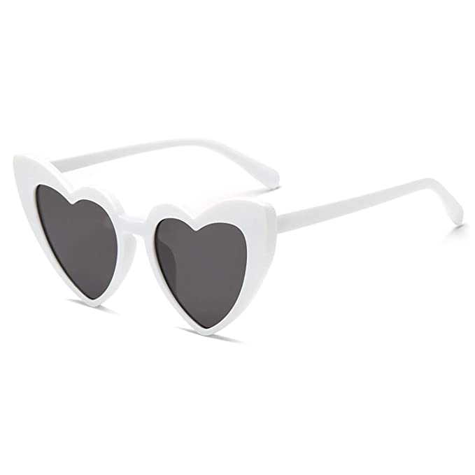 29412e8ac53 Heart-Shaped Sunglasses Women Vintga Black Pink Red Heart Shape Sun Glasses  (C3)